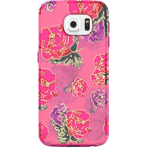 Incipio Rival Chrome Case for Samsung Galaxy S6 - Floral/Gold