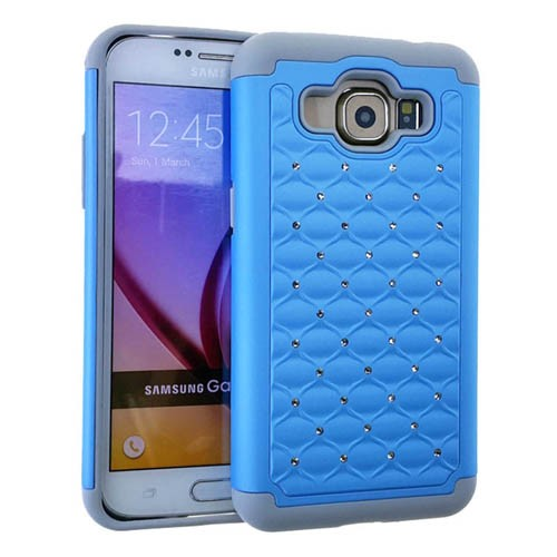 2-in-1 Hybrid Protector Case for Samsung Galaxy Grand Prime G530 (Rubberized on Blue&Grey Skin)