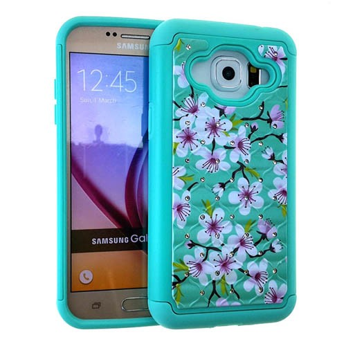2-in-1 Hybrid Protector Case for Samsung Galaxy J3 (Flower Design)