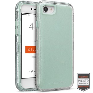 Cellairis Rapture Case for Apple iPhone 8 - Rapture Clear Silver Glitter/Aqua