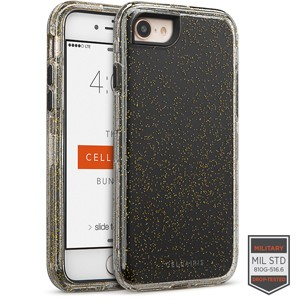 Cellairis Rapture Case for Apple iPhone 8 - Rapture Clear Gold Glitter/Black