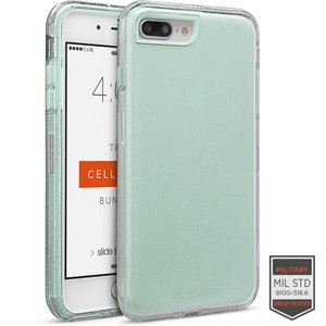 Cellairis Rapture Case for Apple iPhone 8 Plus - Rapture Clear Silver Glitter/Aqua