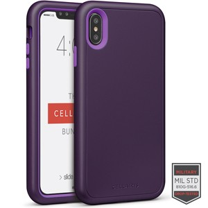 Cellairis Aero Case for Apple iPhone XS Max - Rapture Dark Purple/Purple Matte Finish