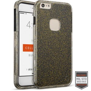 Cellairis Rapture Case for Apple iPhone 6/6S Plus - Rapture Clear Gold Glitter/Black