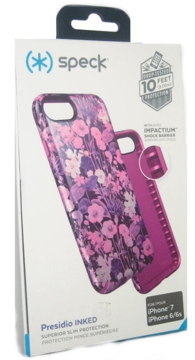 sale retailer ead18 3e76d Speck Presidio Inked Slim Case for iPhone 7, 6/6s - Flower Pink Rose