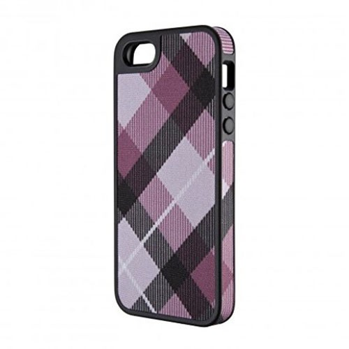 Speck FabShell Fabric-Cover Case for Apple iPhone 5/5S (MegaPlaid Mulberry/Black)