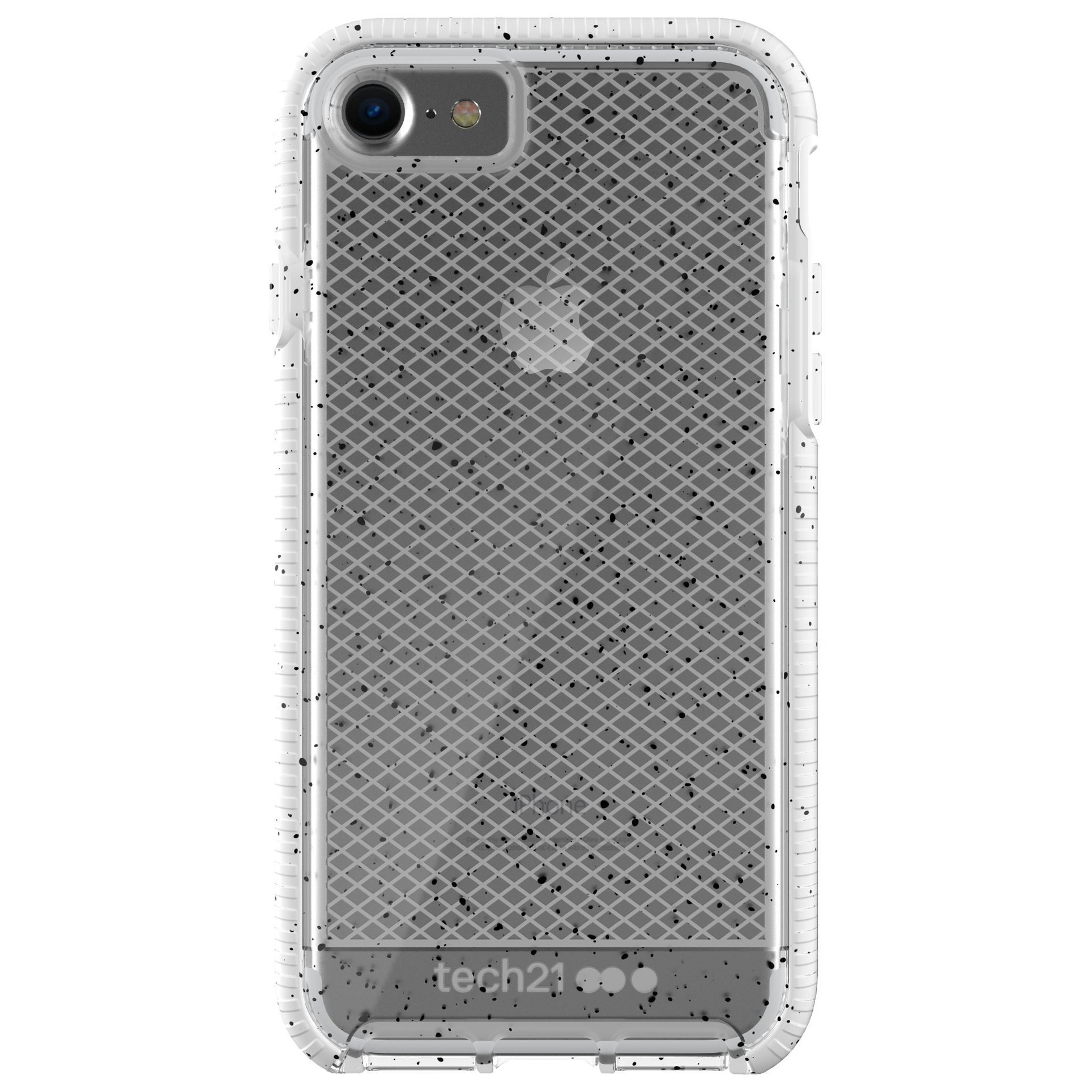 low priced 95f67 36d61 Tech21 Evo Check Active Edition Case for iPhone 8/7 - Clear/White