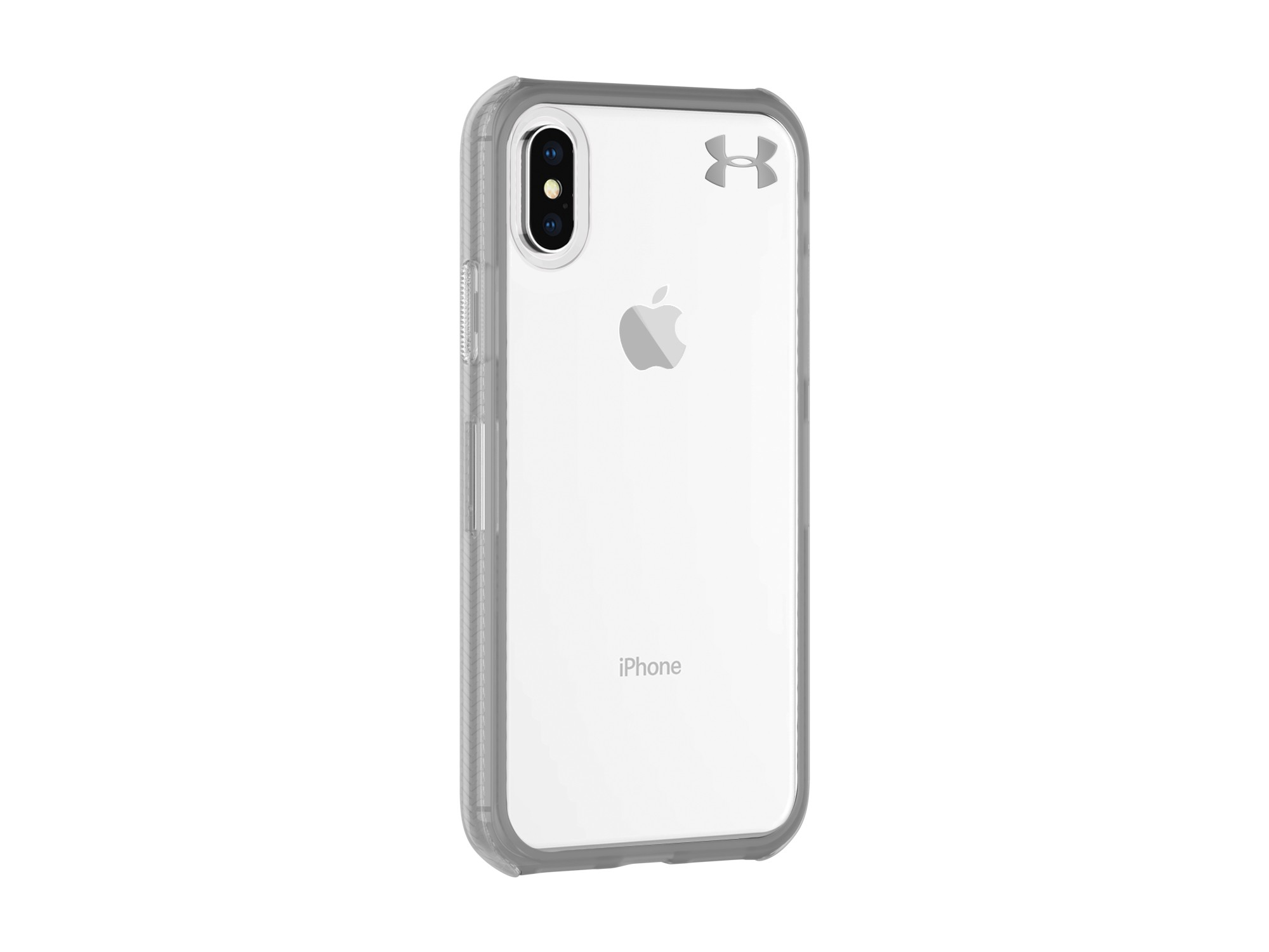 522202859a Under Armour UA Protect Verge Case for iPhone X/XS -  Clear/Graphite/Gunmetal Logo