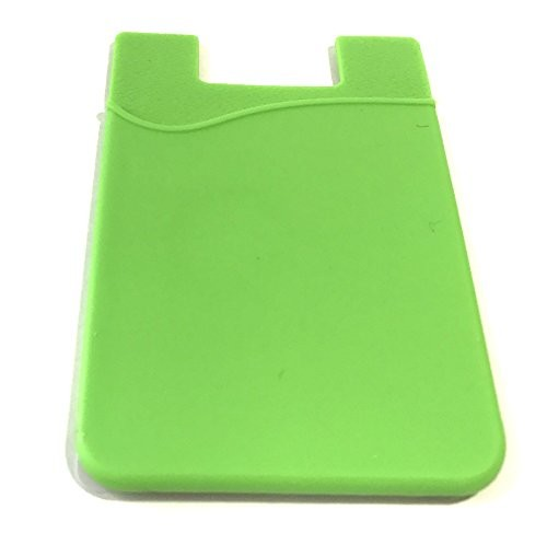Stick on Credit Card Holder with RFID Blocker and 3M Adhesive Backing For Secure Easy Installation by Stick Em (Green)