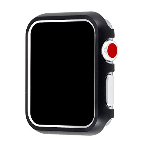 for Apple Watch Case 38mm, Falandi Apple Watch Face Case with Bling Crystal Diamonds Plate iWatch Case Cover Protective Frame for Apple Watch Series 3/2/1 (Black, 38mm)