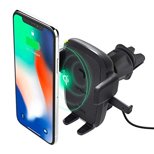 iOttie Easy One Touch Qi Wireless Charger Vent Mount || Fast Charge for Samsung Galaxy S10 E S9 S8 Plus Edge, Note 9 & Standard Charge for IPhone XS Max XS 8 Plus & Qi Devices | + Dual Charger