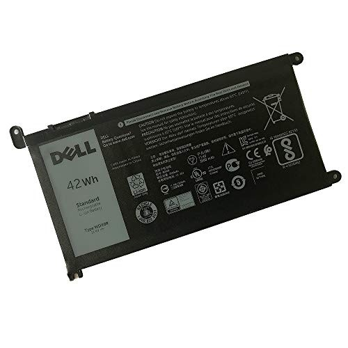 SANISI DELL WDX0R Notebook Battery 11.4V 42WH for DELL Inspiron 5368 5378 5565 5567 5568 5578 5765 5767 7368 7378 7560 7570 7579 7569 5580 5584 Best OEM Quality