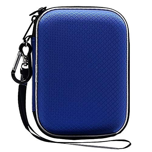 Lacdo Hard Drive Carrying Case for Western Digital WD My Passport Ultra WD Elements SE WD P10 Game Drive Portable External Hard Drive 1TB 2TB 3TB 4TB 5TB USB 3.0 2.5 inch HDD Travel Storage Bag, Blue