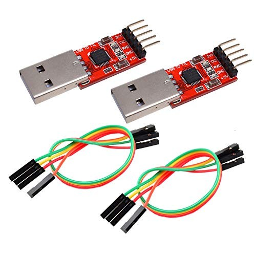 IZOKEE CP2102 Module USB to TTL 5PIN Serial Converter Adapter Module Downloader for UART STC 3.3V and 5V with Jumper Wires